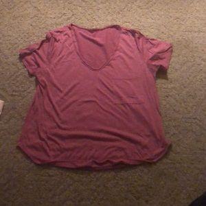 Garage pink shirt with pocket